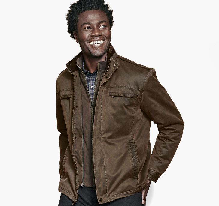 Antiqued-Cotton Jacket preview
