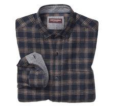 Brushed Heather Herringbone Plaid Shirt