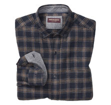 Brushed Heather Herringbone Plaid Shirt