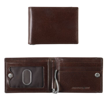 Italian Leather Snap Bill Till Wallet