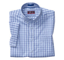 XC4® Gingham Button-Collar Short-Sleeve Shirt