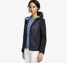 Mixed-Media Quilted Jacket
