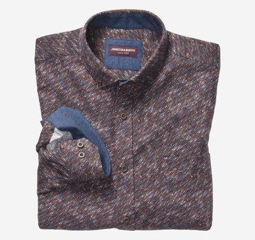 Brushed Button-Collar Shirt