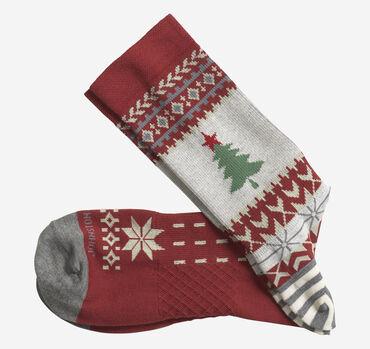 Ribbed Christmas Tree Socks