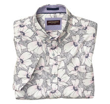 Large Blossom Print Short-Sleeve Shirt