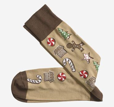 Gingerbread Cookies Socks