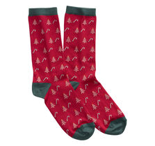 Candy Cane and Tree Sock