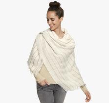 Two-Tone Rope Stripe Blanket Scarf