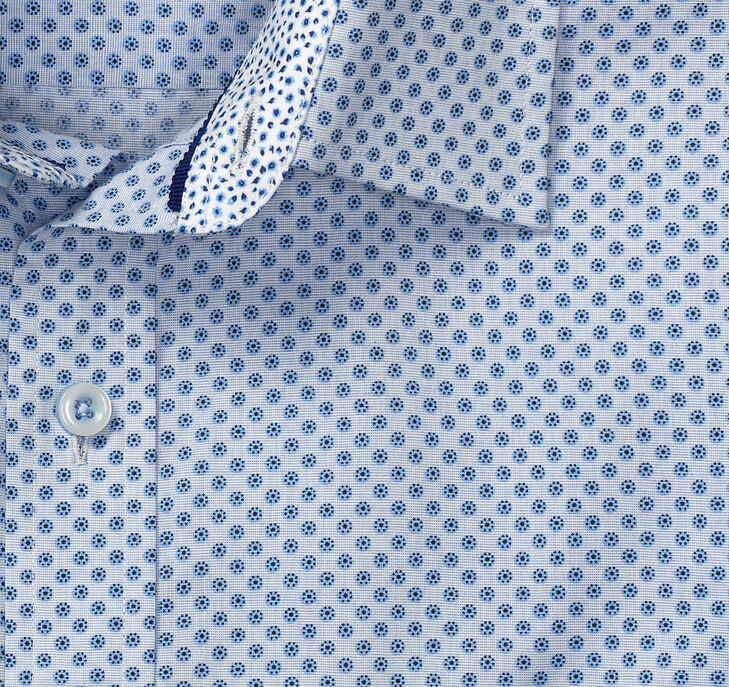Pindot Flower Print Shirt