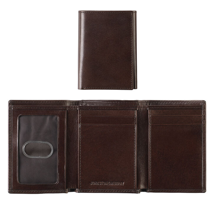 Italian Leather Trifold Wallet