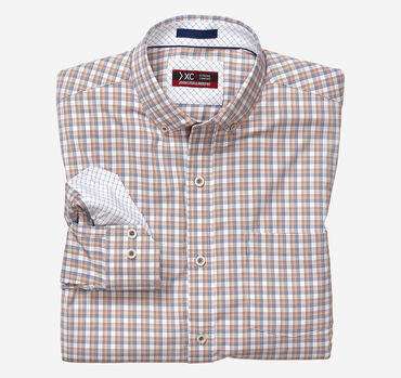 XC4® Thin Stripe Plaid Stretch Shirt