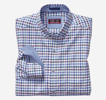 XC4® Multi Gingham Button-Collar Shirt