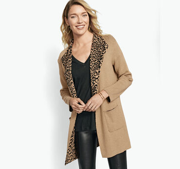 Reversible Leopard-Print Sweater
