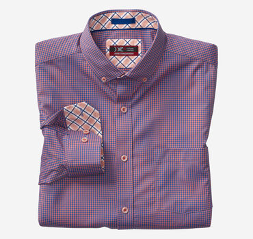 XC4® Micro Check Button-Collar Shirt
