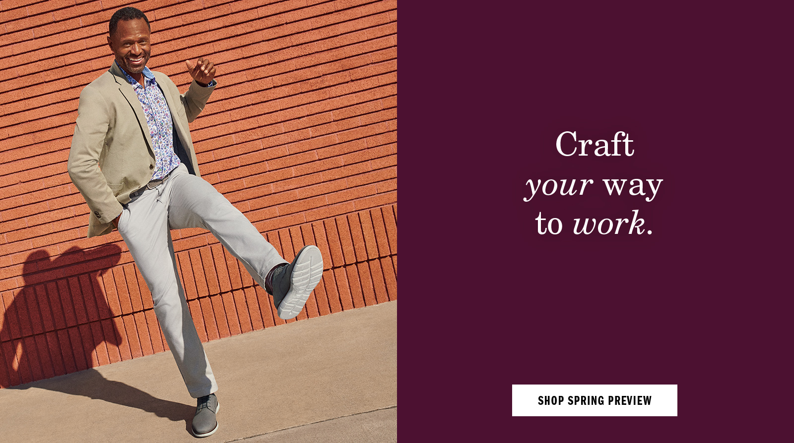 Craft your way to work - Shop Spring Preview for Men