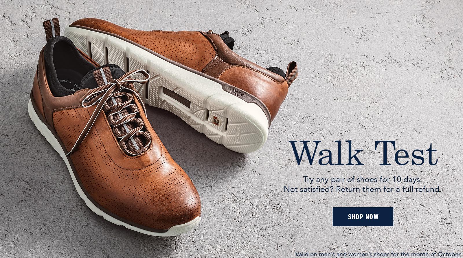 Walk Test - Shop Men's Shoes