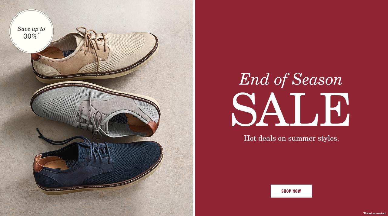 End of Season Sale - Shop Now