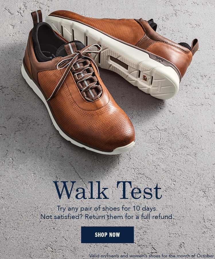 Walk Test Try any shoes for 10 days - Shop Now